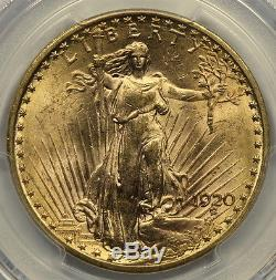 Better Date Pcgs Ms63 1920 $20 Gold St. Gaudens Double Eagle (doxt)