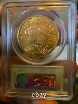 Gold 1908 Saint Gaudens Double Eagle Pcgs Ms-63 It Looks Beautiful