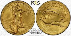Key Date 1907 High Relief Flat Edge MS64 PCGS $20 St Gaudens Gold Double Eagle