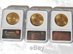 Lot of 3 NGC Graded MS 64 MS64 1924 St. Gaudens $20 Double Eagle Gold Coins G$20