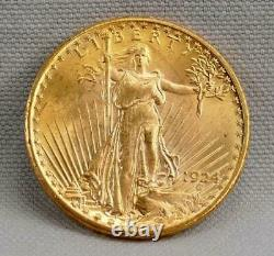 Nice 1924 $20 St Gaudens DOUBLE EAGLE Gold Coin! FREE SHIPPING