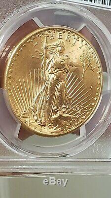 PCGS MS 64 1923 D 20$ St GAUDENS GOLD DOUBLE EAGLE