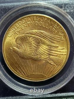 PCGS MS64 1907 Saint Gaudens $20 U. S. GOLD Double Eagle Coin OLD GREEN LABEL