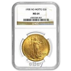 SPECIAL PRICE! $20 Saint-Gaudens Gold Double Eagle MS-64 NGC (Random)
