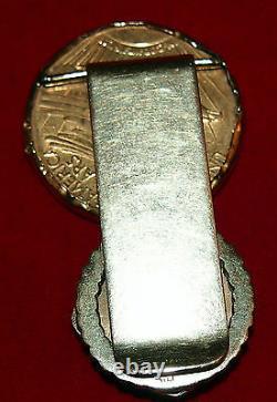 Saint Gaudens $20 C1911 Double Eagle Us Gold Money Clip Initialf-h-58.7 Gr