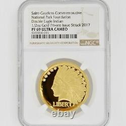 Saint Gaudens 2017 1/2 OZ GOLD PF69 UC NGC National Park Double Eagle Indian