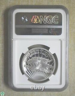 Saint-gaudens Commemorative 1 Oz Silver Double Eagle Ngc Pf 70 Ultra Cameo
