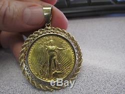 Stunning 1924 Saint Gaudens Gold Coin Double Eagle $20 Pendant Unisex Make Offer