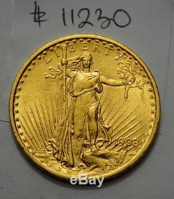 Superb 1908-p $20 Gold St. Gaudens Double Eagle Us Coin No Motto