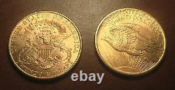 Twins, Superb Couple $20 Gold Coins 1907 Saint Gaudens & Liberty Double Eagle BU