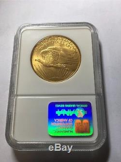 U. S. GOLD COIN $20 Saint-Gaudens 1908 No Motto Double Eagle NGC graded MS 62