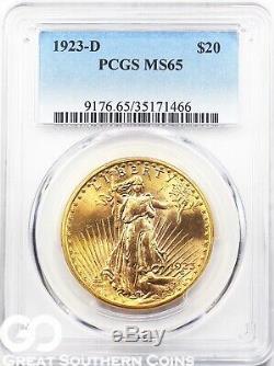 U. S. Gold, $20 St. Gaudens Double Eagle PCGS MS 65 Random Dates