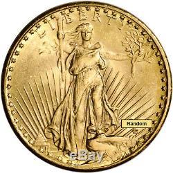 US Gold $20 Saint-Gaudens Double Eagle Brilliant Uncirculated Random Date