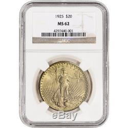 US Gold $20 Saint-Gaudens Double Eagle NGC MS62 Random Date