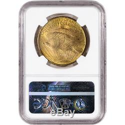 US Gold $20 Saint-Gaudens Double Eagle NGC MS63 1908 No Motto