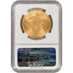 US Gold $20 Saint-Gaudens Double Eagle NGC MS64 1908 No Motto
