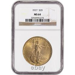 US Gold $20 Saint-Gaudens Double Eagle NGC MS64 Random Date