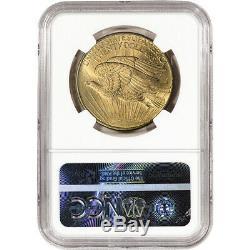US Gold $20 Saint-Gaudens Double Eagle NGC MS65 1908 No Motto