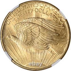US Gold $20 Saint-Gaudens Double Eagle NGC MS66 1908 No Motto