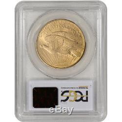 US Gold $20 Saint-Gaudens Double Eagle PCGS MS62 1908 No Motto