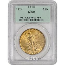US Gold $20 Saint-Gaudens Double Eagle PCGS MS62 Random Date