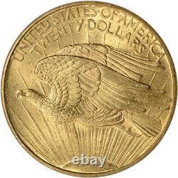 US Gold $20 Saint-Gaudens Double Eagle PCGS MS63 1908 No Motto