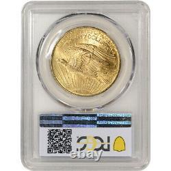 US Gold $20 Saint-Gaudens Double Eagle PCGS MS64+ 1908 No Motto