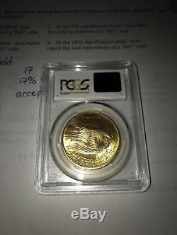US Gold $20 Saint-Gaudens Double Eagle PCGS MS64 1908 No Motto