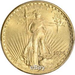 US Gold $20 Saint-Gaudens Double Eagle PCGS MS65 Green Label Random Date