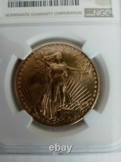 USA 1924 $20 Double Eagle St Gaudens Gold NGC Graded Uncirculated Details Coin
